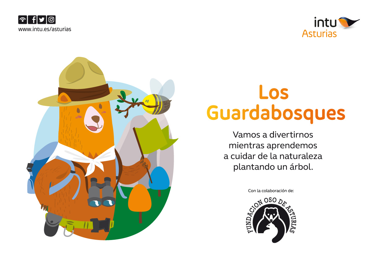 Guardabosques en Intu Asturias