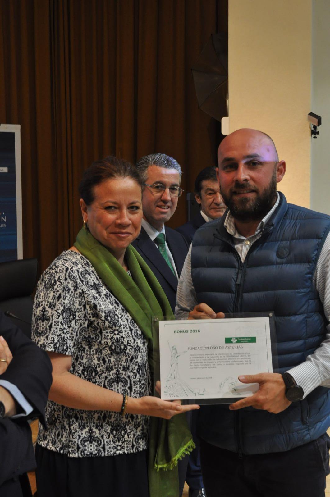 Fraternidad-Muprespa entrega el diploma Bonus a la fundación