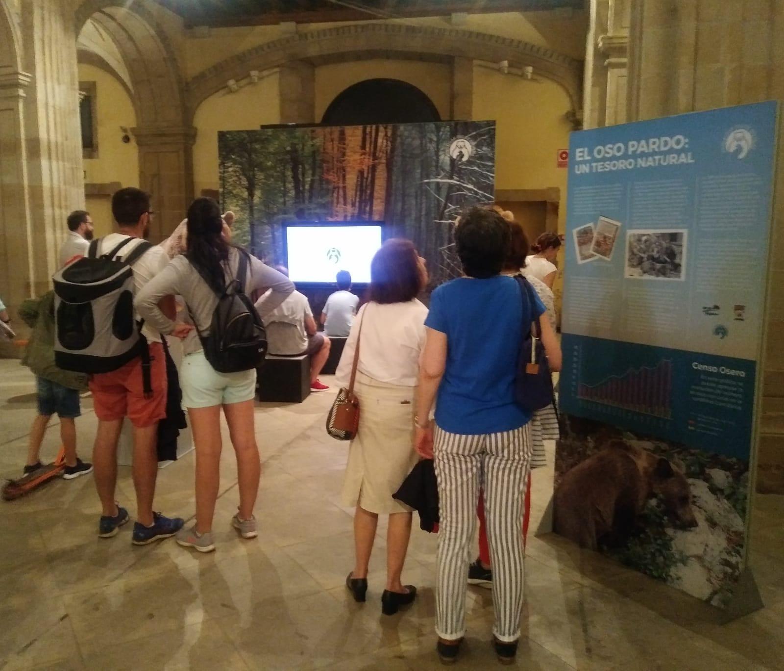 La exposición itinerante 'Vivir con osos' alarga su estancia en la Colegiata San Juan Bautista de Gijón hasta el 15 de agosto
