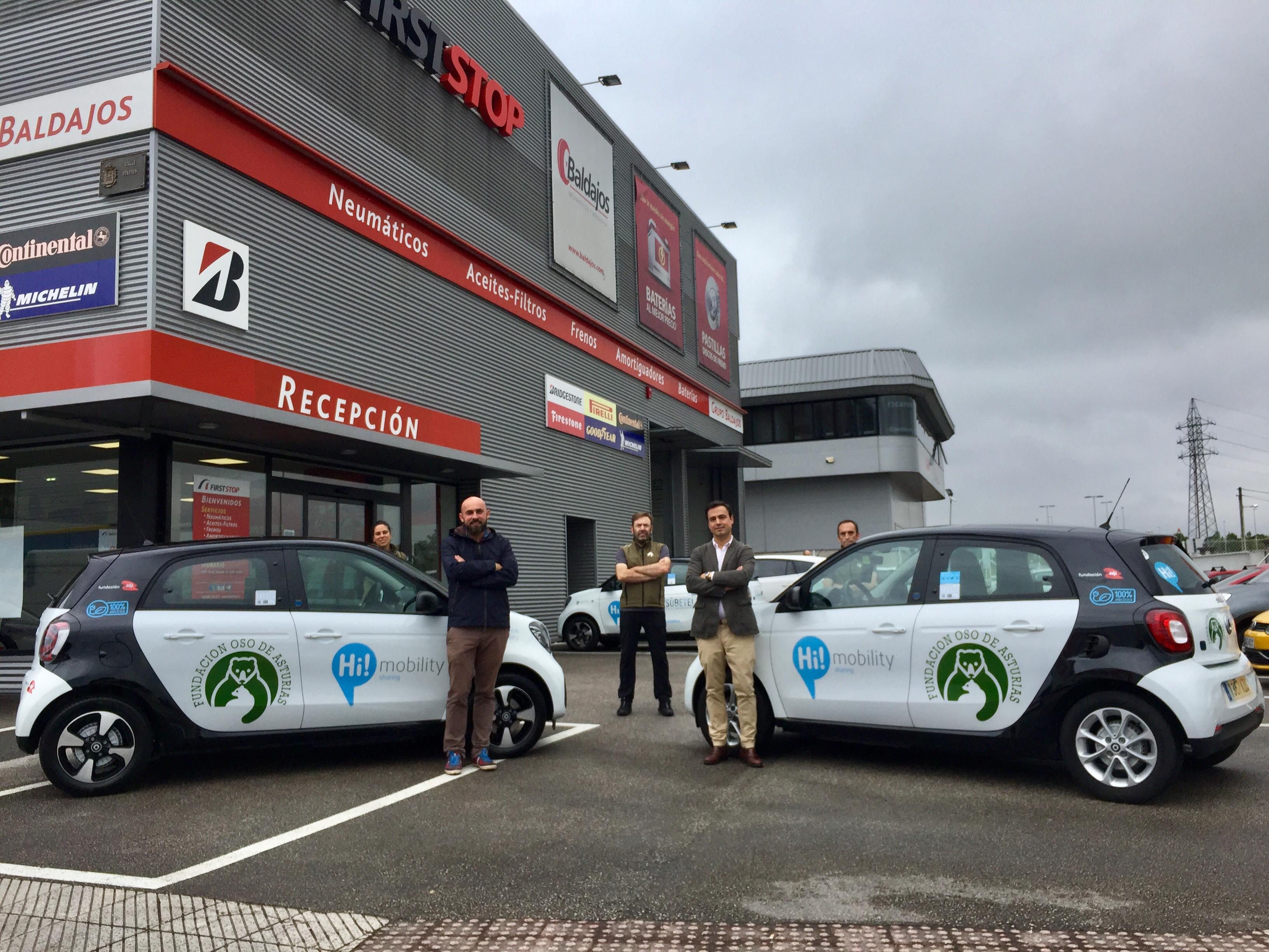 Informadores ambientales de la Fundación Oso de Asturias dispondrán de vehículos 100% eléctricos