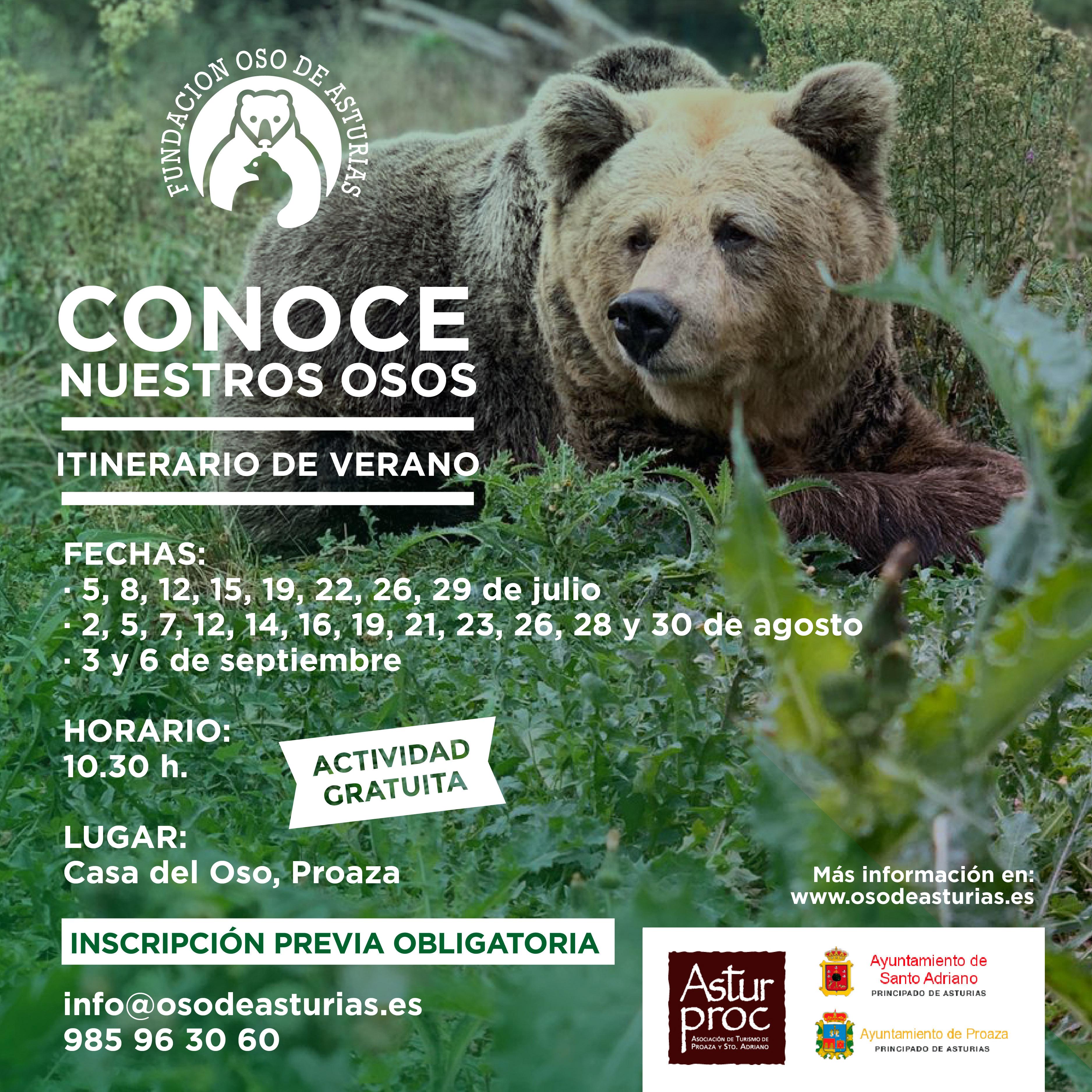 """Los itinerarios de verano """"Conoce nuestros osos"""" comienzan esta semana"""