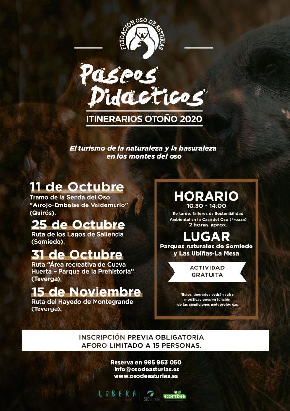 La Fundación Oso de Asturias inicia este otoño una nueva actividad didáctica de interpretación del medio natural