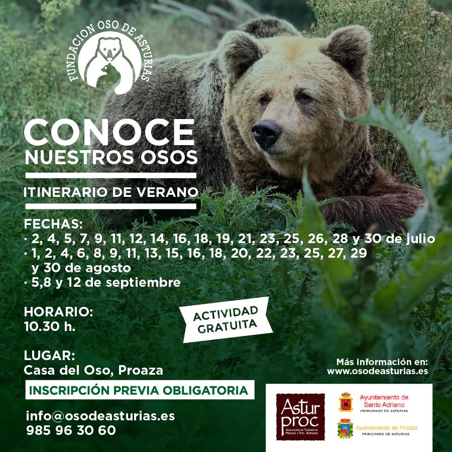 """Vuelven los itinerarios de verano """"Conoce nuestros osos"""", organizados por la Fundación Oso de Asturias"""