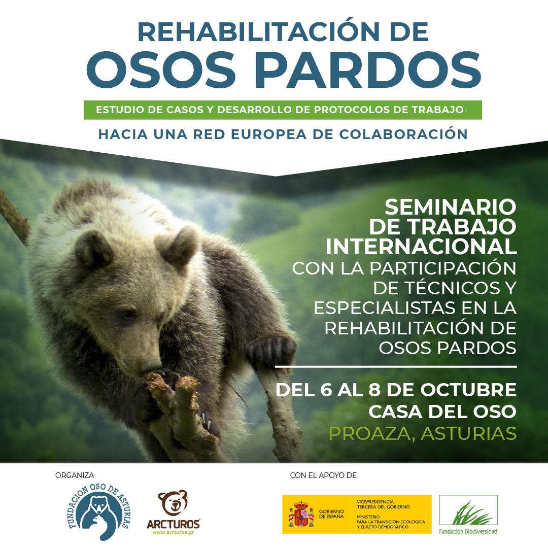 La Fundación Oso de Asturias acoge el Seminario Internacional sobre Rehabilitación de Osos Pardos